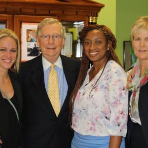 Sen. Majority Leader McConnell Visits Family Scholar House